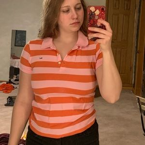 striped collared tshirt